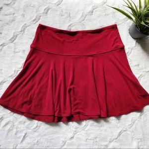 Hollister deep red skater skirt